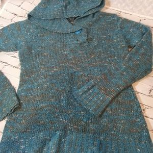 Rue 21 turquoise/Brown/white sweater